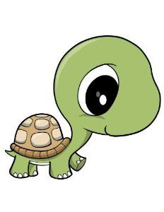 "Cute Cartoon Turtles | Amazon.com - Cute Baby Turtle - 12""H x 9""W - Peel and Stick Wall Decal ..."