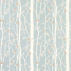 Cottonwood Duck Egg Leaf Wallpaper - Laura Ashley Like this for feature wall or all walls of spare room