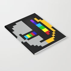 daft minimal 8bit notebooks on society6 by 8bitbaba. #daftpunk #electronica #pixelart #8bitart #robots #8bitbaba
