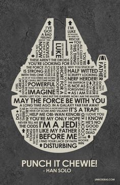Millenium Falcon quotation art work