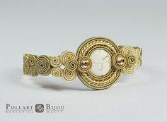 Beige Soutache bracelet braccialetto от PollartBijouSoutache