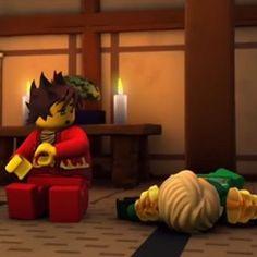 The look on Kai's face....Well,Lloyd gets a nice nap at least