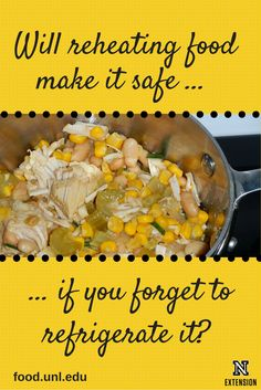 If you reheat food that was forgotten on the counter overnight or was left out all day, will it be safe to eat? Food Safety, Safe Food, Freezer, Counter, Families, Forget, Vegetables, Eat, Kitchen