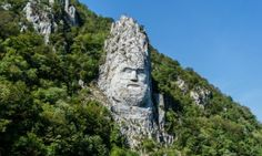 The Statue is of the Dacian king, Decebalus is reputed to be the tallest rock sculpture in Europe and is located on the Danube, near the city of Orşova, Romania. Romania People, Rock Sculpture, Eastern Europe, The Guardian, Wander, Mount Rushmore, Coast, City, World