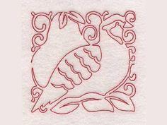 12 Days of Christmas Redwork Blocks Machine Embroidery Designs  http://www.designsbysick.com/details/12daysofchristmasrwblocks
