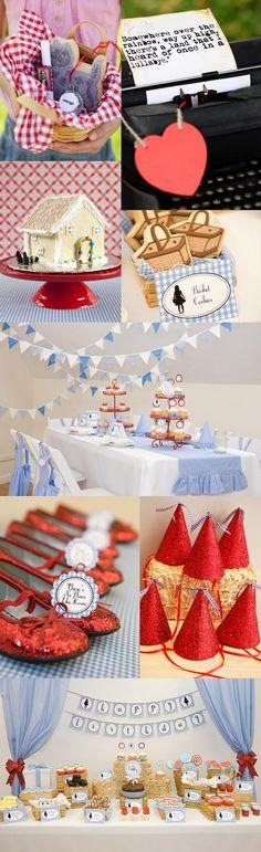 fun wizard of oz birthday party decoration ideas @Danielle Lampert Lampert Medford Bennett for Loralie....So adorable!!!