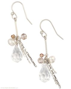 PARTY TIME EARRINGS  $44    Details, please! Get the dish on style. Pearl, Glass, Sterling Silver.