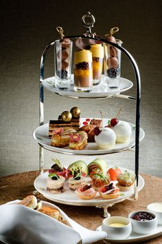 Afternoon Tea is a meal composed of sandwiches, scones with clotted cream and jam, sweet pastries and cakes. English Afternoon Tea, Afternoon Tea Recipes, Afternoon Tea Parties, Cream Tea, Fancy Desserts, Tea Sandwiches, Food Platters, Food Presentation, Tea Party