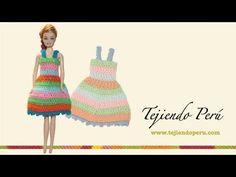 Crochet Barbie Dress Tutorial Pattern - Right Handed - YouTube