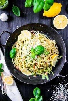 Basilikum Lemon Pasta - mit Frischekick ins Pastaglück... - Das Küchengeflüster