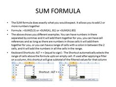 learn how to use SUM formula in Excel...