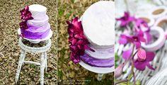 Radiant Orchid Buttercream Cake