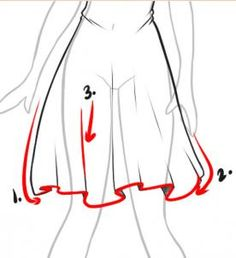 how to draw dresses step 5