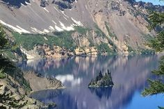 Phantom ship at Crater Lake, Oregon. Once of the most beautiful places in America!