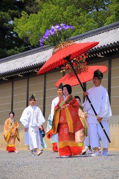 京都葵祭の優雅な行列