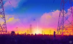 The Art Of Animation — Sugarmints Scenery Background, Sky Art, Illustrations, Anime Scenery, Wallpaper Backgrounds, Wallpapers, Computer Wallpaper, Pretty Art, Pictures To Draw