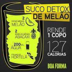 Suco Detox de Melão