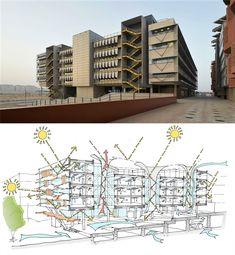 Siemens HQ in Masdar City | Sheppard Robson #arch2o #architecture #design #3d #diagram #building
