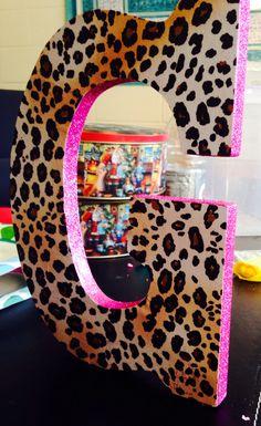 Cheetah Pink Glitter Letters