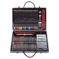 51pc Less Expensive Colorama Colored Pencils Color Kit With Case