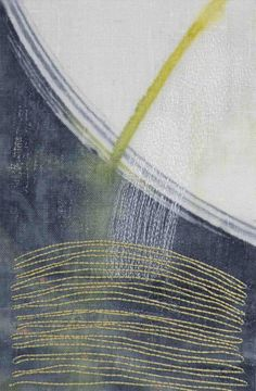 machine embroidery over monoprint