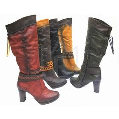 Women's boots, artificial leather, mixed sizes (36-41), different colors - only 13.50 Euro per pair!