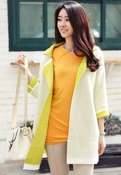 Slouchy Reversible Cardigan (Lime)