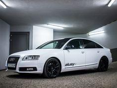 #Audi A6 w wersji matowy biały z czarnym dachem na 19 calowych felgach #Barracuda #Shoxx. Więcej fotek: http://bit.ly/1LWpzXO