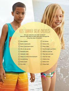 Atividades para o Verão
