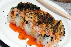 Firecracker Broiled Pan Sushi. This one looks so ono!