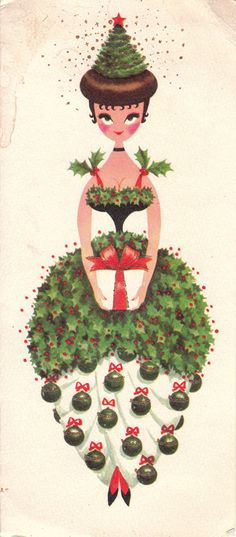 A darling vintage 1960s Christmas card. #vintage #Christmas #cards