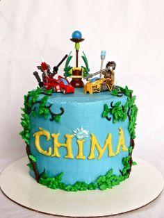Sara Elizabeth: Chima and Chocolate: Lego Chima Buttercream-Frosted Cake.