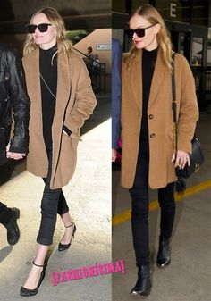 camel coat, kate bosworth