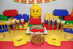Incredible LEGO party! See more party ideas at CatchMyParty.com! #partyideas #lego