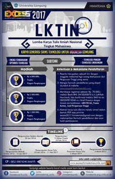 #LKTI #LKTIN #EXCESS2017 #UNILA #Lampung EXCESS 2017 Lomba Karya Tulis Ilmiah Nasional tingkat Mahasiswa  DEADLINE: 13 Januari 2017  http://infosayembara.com/info-lomba.php?judul=excess-2017-lomba-karya-tulis-ilmiah-nasional-tingkat-mahasiswa