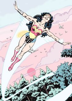 """There is no greater exhilaration than the sheer joy of flying."" - (Wonder Woman Volume 2 #9)"