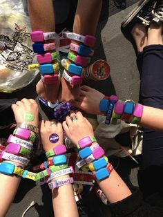 Coldplay concert wrist bands (via Coldplay: News - London, Emirates Stadium live blog)