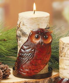Take a look at this Red & Brown Owl Candleholder on zulily today!