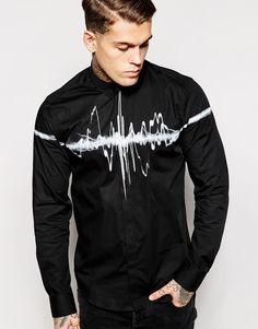 AKA | AKA Longline Shirt With Chest Print at ASOS