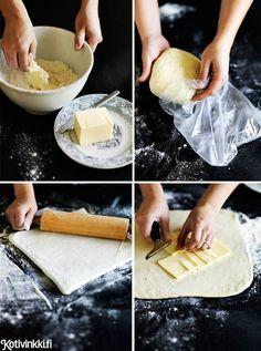 Tee voitaikina itse! Muovaa taikinasta pieniä makeita ja suolaisia paloja, pasteijoita tai jälkiruokatorttuja.
