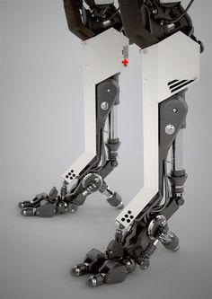 A scrapbook of cyberpunk visions to get you dreaming about the future to come. Robot Leg, Arte Sci Fi, 3d Mode, Arte Robot, Mekka, Sci Fi Armor, Modelos 3d, Robot Concept Art, Cyberpunk Art