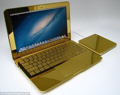 The Technology Report. Thinking Of Getting A Laptop? A good quality laptop computer will give you all of the mobile computing power you need, and is unmatched by lesser devices. With a great laptop, you will Beckham, Notebooks, Real Gold Chains, Gold Everything, Golden Apple, Mobile Computing, Apple Laptop, Mac Laptop, High Tech Gadgets