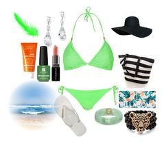 """~ Beach 2"" by moniquedawson09123 ❤ liked on Polyvore featuring Topshop, Havaianas, Billabong, Palm Beach Jewelry, Smashbox, Red Carpet Manicure and Avène"