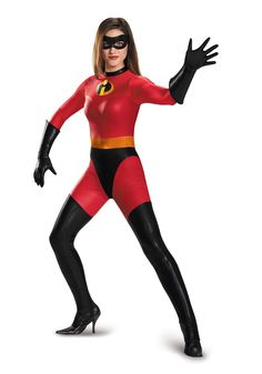 hallowen costume couples disneys the incredibles mrs incredible bodysuit adult costume plus