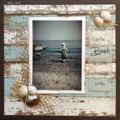 A walk on the beach is worth a thousand words - Scrapbook.com