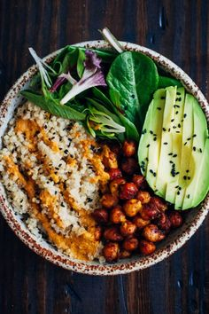 13 Healthy Buddha Bowl Meals Anyone Can Make. This pic is the vegan bowl listed on the site
