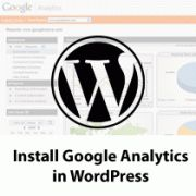 How to Install Google Analytics in WordPress for Beginners. Includes setting up your Analytics account, installing the tag in Wordpress. http://www.wpbeginner.com/beginners-guide/how-to-install-google-analytics-in-wordpress/# Although refer to Wordpress itself because it's clearer.