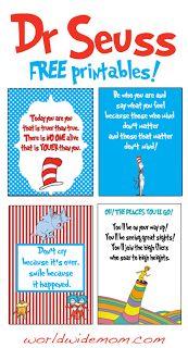 Dr. Seuss Printables | Festeggiamo il Dr Seuss - Poster A4 con citazioni da stampare ...