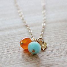 Shore Handmade Jewelry on Etsy. Charm necklace $27.00