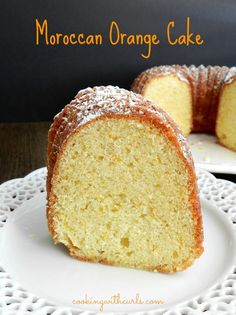 A traditional Moroccan Orange Cake is a quick and easy dessert that is the perfect way to end a flavorful meal! via Cooking with Curls Moroccan Desserts, Moroccan Dishes, Moroccan Recipes, Cupcakes, Cupcake Cakes, Pavlova, Morrocan Food, Cake Recipes, Dessert Recipes